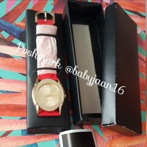 NWOT Avon Red & Gold Color Watch